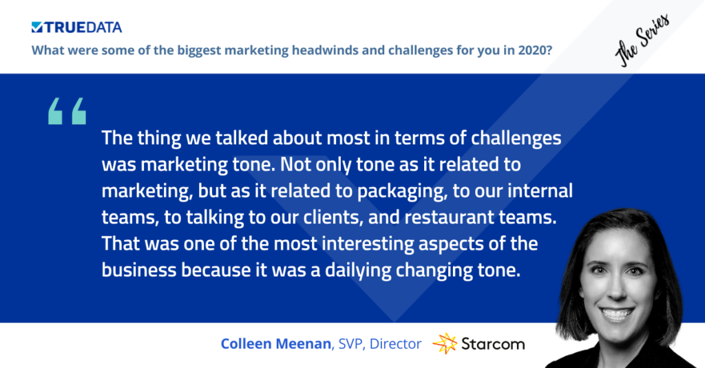 Colleen Meenan talked about marketing tone at The Series restaurant marketing event