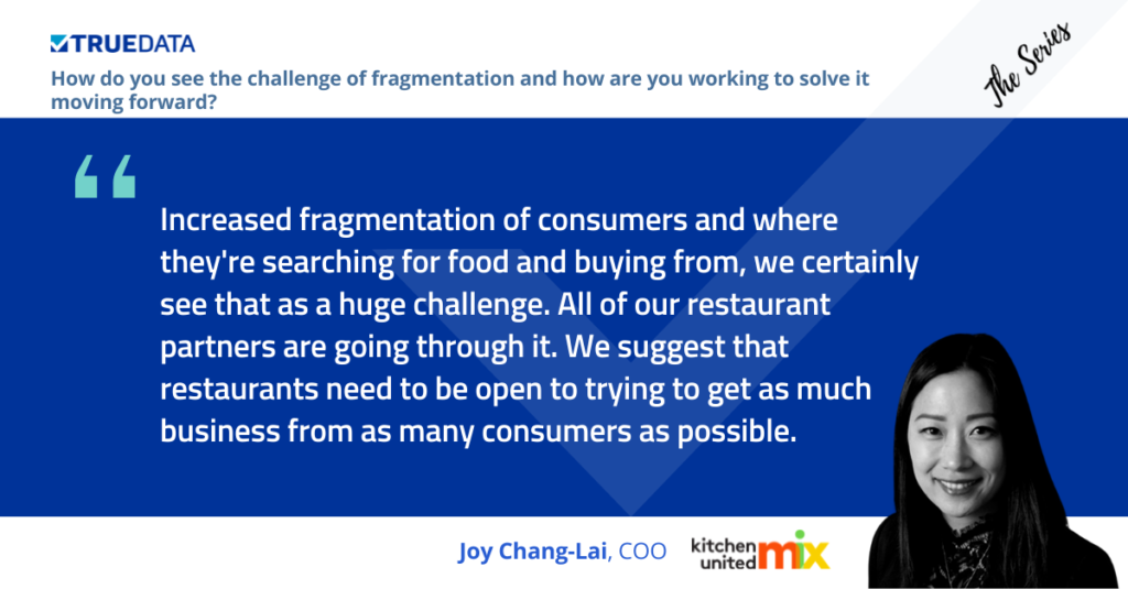 Joy Lai talked about fragmentation at The Series restaurant marketing event
